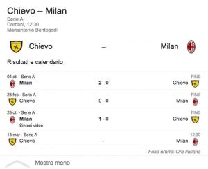 Guarda la versione ingrandita di Chievo-Milan in diretta su BlitzQuotidiano