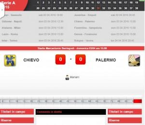 Chievo-Palermo: diretta live Serie A su Blitz. Formazioni