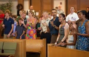 Gli Obama in chiesa