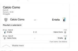 Como-Entella streaming-diretta tv, dove vedere Serie B