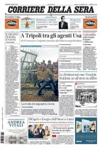 Guarda la versione ingrandita di Migranti, Libia, Fiorentina-Napoli: prime pagine 1 marzo