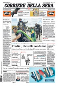 Guarda la versione ingrandita di Migranti, Verdini, Draghi: le prime pagine dei giornali