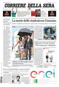 Guarda la versione ingrandita di Incidente bus Spagna, Obama, Buffon: prime pagine 21 marzo