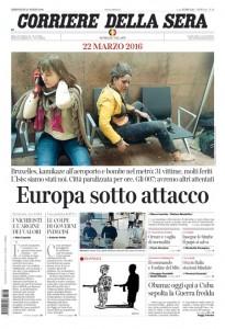 Guarda la versione ingrandita di Attentati Isis a Bruxelles: le prime pagine del 23 marzo