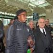 Sparta Praga-Lazio, i calciatori biancocelesti nella foto Ansa