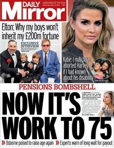 Pensioni: a Londra si andrà a 75 anni