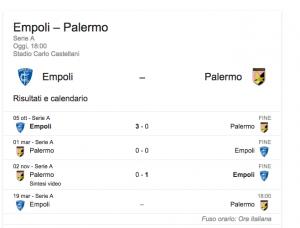 Empoli-Palermo, streaming-diretta tv: dove vedere Serie A