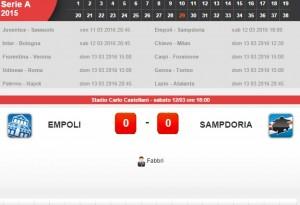 Guarda la versione ingrandita di Empoli-Sampdoria: diretta live su Blitz 29a giornata serie A