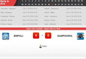 Empoli-Sampdoria: diretta live su Blitz 29a giornata serie A