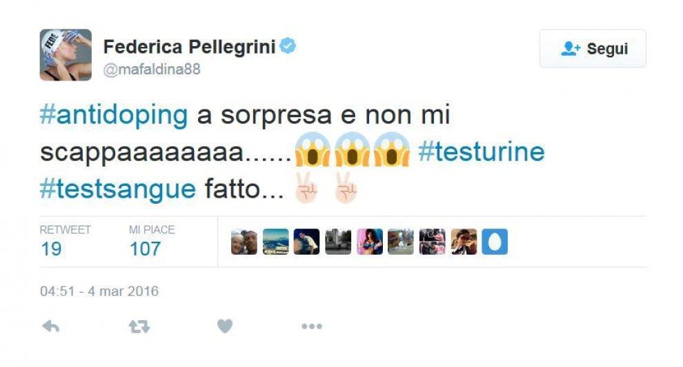 Federica Pellegrini, gaffe Twitter: telefono e indirizzo2