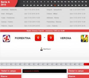 Guarda la versione ingrandita di Fiorentina-Verona, diretta live su Blitz