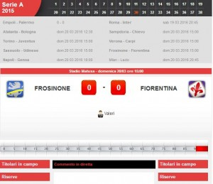 Frosinone-Fiorentina: diretta live su Blitz. Formazioni-info