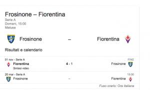 Frosinone-Fiorentina streaming-diretta tv, dove vedere Serie A