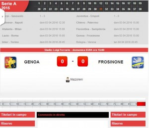 Genoa-Frosinone: diretta live Serie A. Formazioni ed info