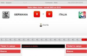 Germania-Italia diretta live su Blitz con Sportal