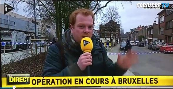 Bruxelles, spari in diretta tv. Giornalista si spaventa e...
