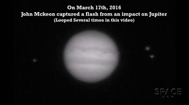 Giove, impatto non identificato col pianeta VIDEO