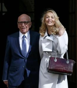 Rupert Murdoch e Jerry Hall sposi a Londra