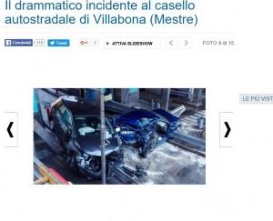 Incidente stradale al casello di Villabona: tre feriti FOTO