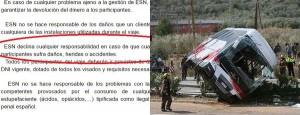 """Incidente Spagna e per epitaffio: """"No responsabilità danni"""""""