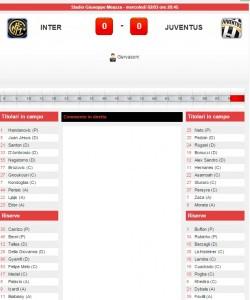 Inter-Juventus: diretta live su Blitz con Sportal