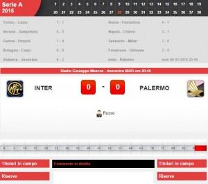 Inter-Palermo: diretta live su Blitz 28a giornata serie A