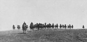 Guarda la versione ingrandita di La cavalleria italiana nelle steppe russe