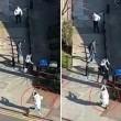 YOUTUBE Vestito da islamico spara sui passanti a Londra