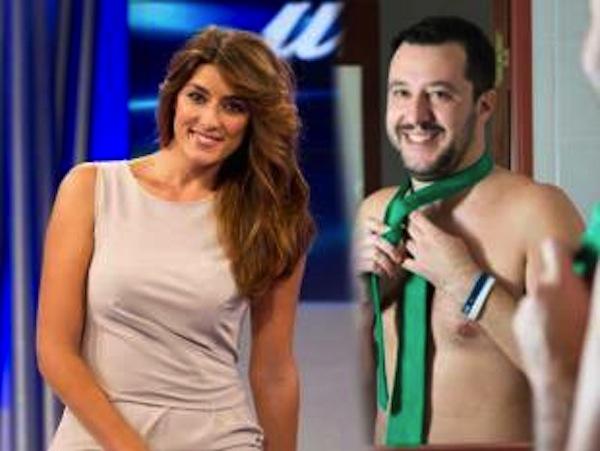 Isoardi-Salvini e il braccialetto dell'amore verde Lega02