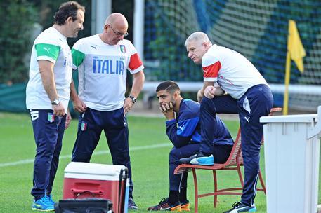 Italia, allenamento nella foto Ansa