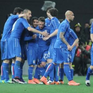 Italia-Spagna 1-1 (foto Ansa)