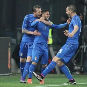 Guarda la versione ingrandita di Italia-Spagna 1-1 (foto Ansa)