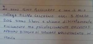 Gino Pollicardo-Filippo Calcagno, giallo del biglietto FOTO