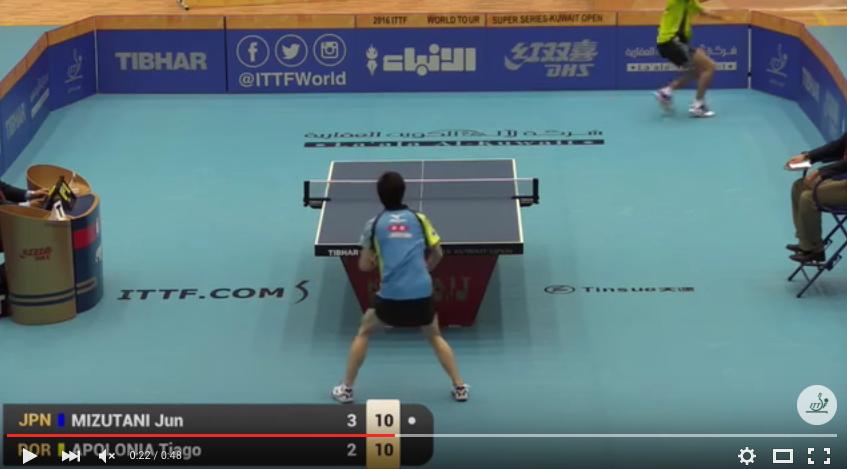 Ping Pong: Mizutani-Tiago, scambio del Secolo