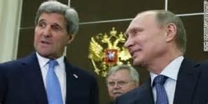 John Kerry e Vladimir Putin