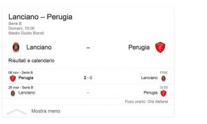 Lanciano-Perugia streaming-diretta tv, dove vedere Serie B