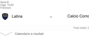 Latina-Como streaming-diretta tv, dove vedere Serie B