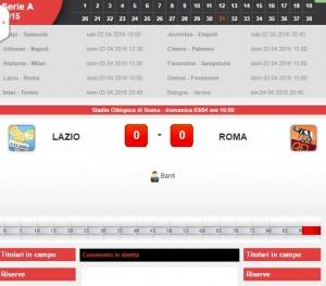 Guarda la versione ingrandita di Lazio-Roma: diretta live derby su Blitz. Formazioni ed info