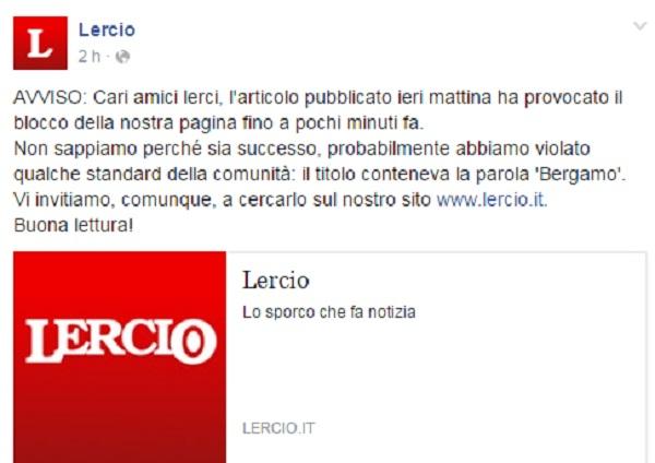 Lercio, pagina Facebook bloccata 24 ore dopo post sui preti