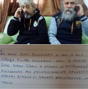 Libia, atterrati a Roma Gino Pollicardo e Filippo Calcagno