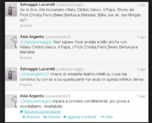 Guarda la versione ingrandita di Selvaggia Lucarelli-Asia Argento: scontro iniziato nel 2013
