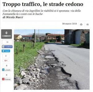 """Strade cedono: """"Troppo traffico"""" o asfalto di serie B? Lucca, Italia"""