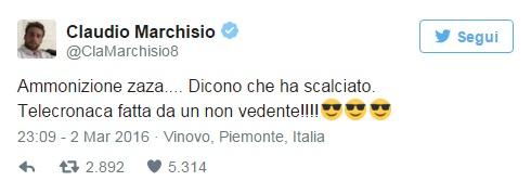 """Marchisio contro Cerqueti (Rai): """"Scuse solo ai non vedenti"""" 02"""