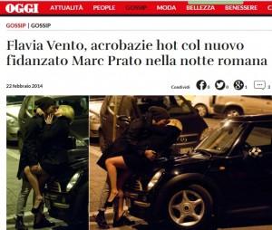 Guarda la versione ingrandita di Marc Prato con Flavia Vento? Sempre stato gay, gli amici…