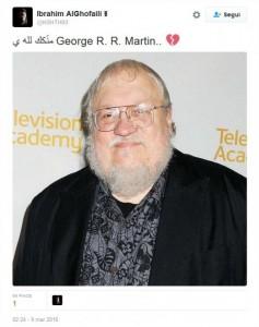 Guarda la versione ingrandita di George Martin morto. Ma web piange autore Game of Thrones