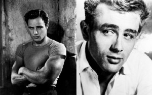 Guarda la versione ingrandita di Marlon Brando e James Dean