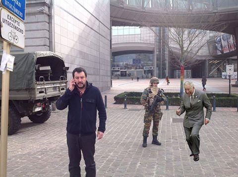 Matteo Salvini a Bruxelles, lo sfottò su Twitter e Fb FOTO