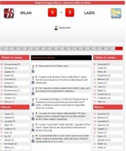 Milan-Lazio: diretta live su Blitz con Sportal. Formazioni e info