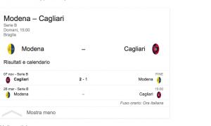 Guarda la versione ingrandita di Modena-Cagliari streaming – diretta tv, dove vedere Serie B