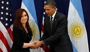 Guarda la versione ingrandita di Barack Obama e Cristina Fernandez